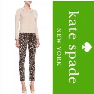 Kate Spade leopard jeans size 30 worn once